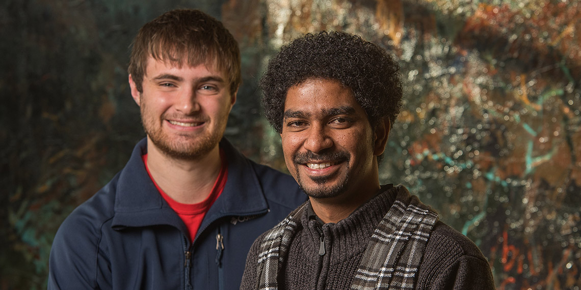 Gonzaga students Manoj Thirupal and Aaron Danowski
