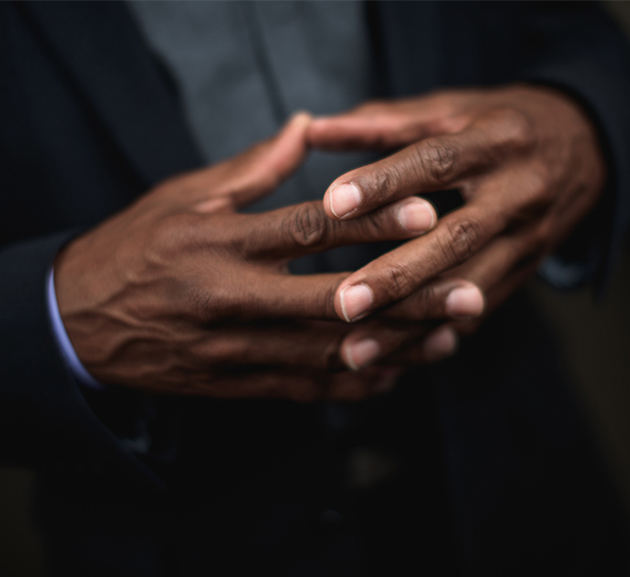 hands of a black man