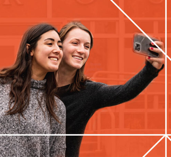 Two students take a selfie