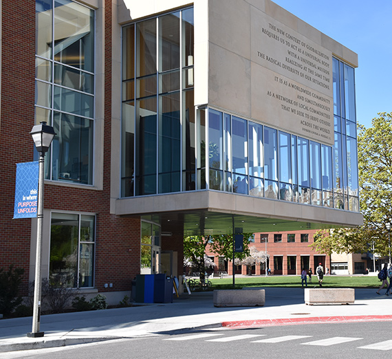 Main entrance to the Hemmingson Center