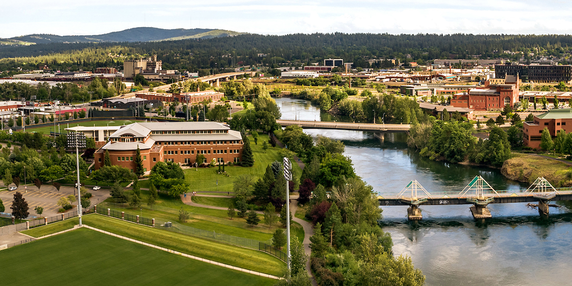 Gonzaga University School of Law on the Spokane River