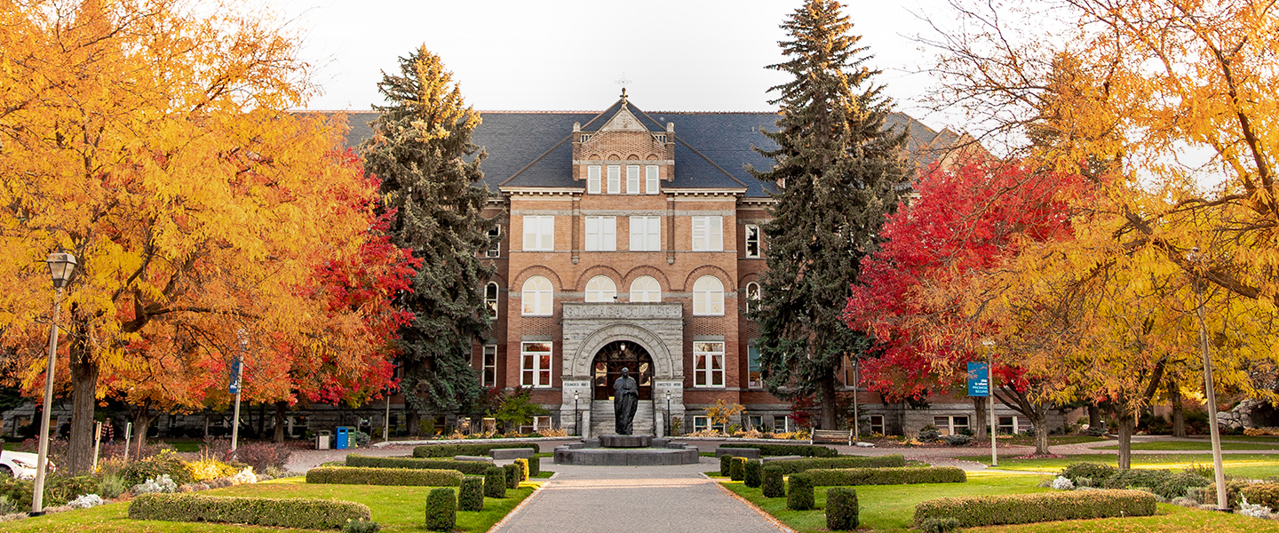 College Hall in the Fall