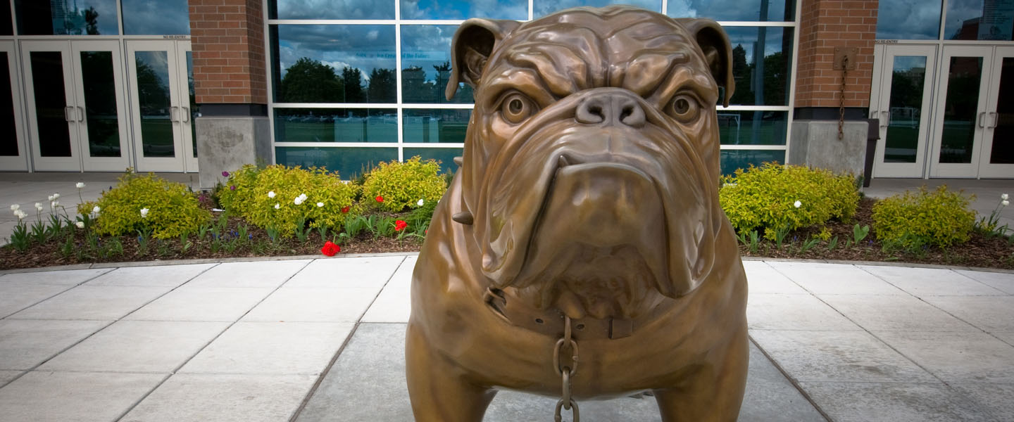 Spike the bulldog statue