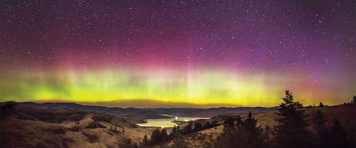 Northern Lights over Keller Ferry by Craig Goodwin